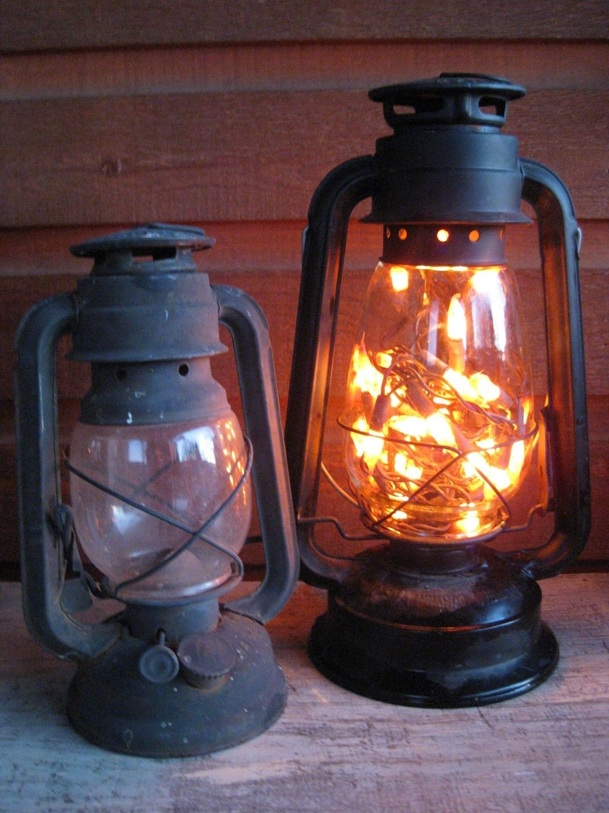 Decorative Outdoor Kerosene Lanterns Intended For Latest Old Lantern. Battery Opereated Lights Inside. No Plug Needed And (Gallery 6 of 20)
