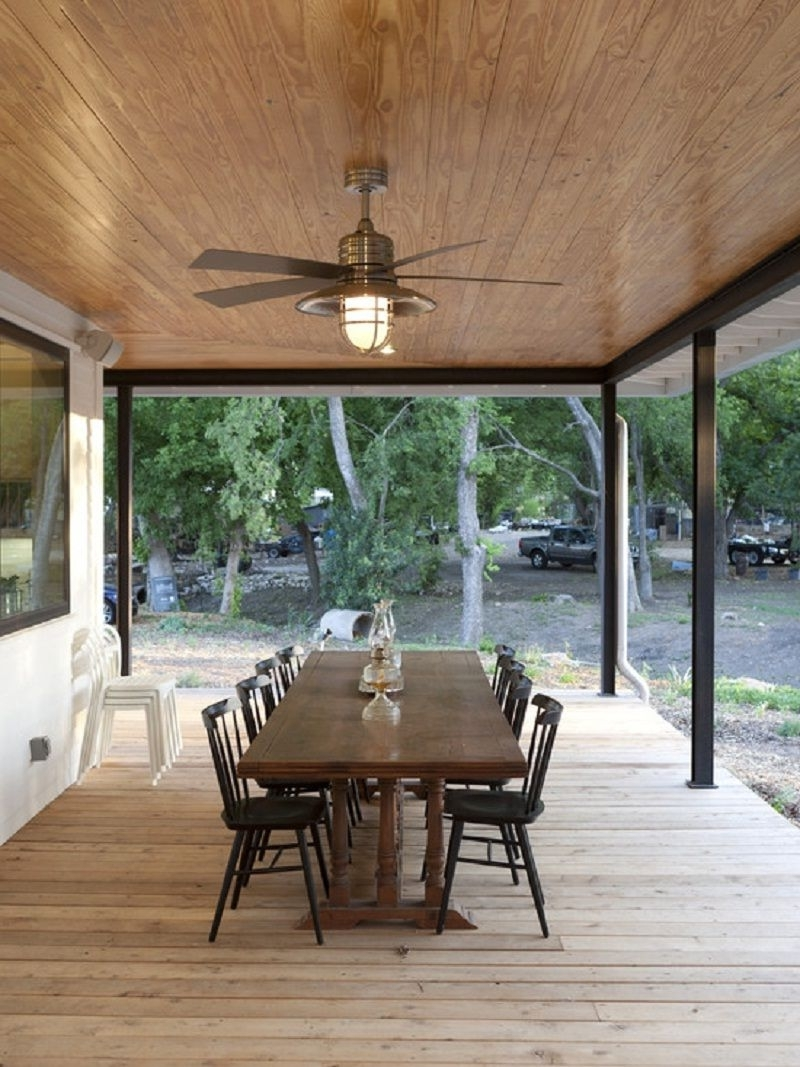 Featured Photo of Outdoor Patio Ceiling Fans With Lights