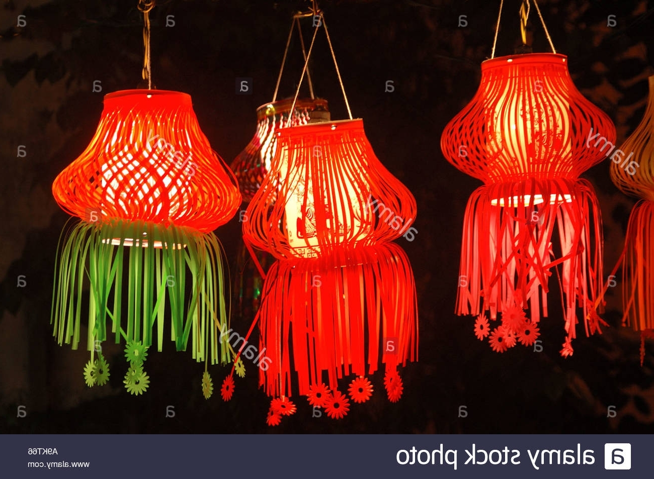 Diwali Indian Festival Of Lights Christmas Colourful Paper Lamps Red Regarding Widely Used Outdoor Indian Lanterns (Gallery 16 of 20)