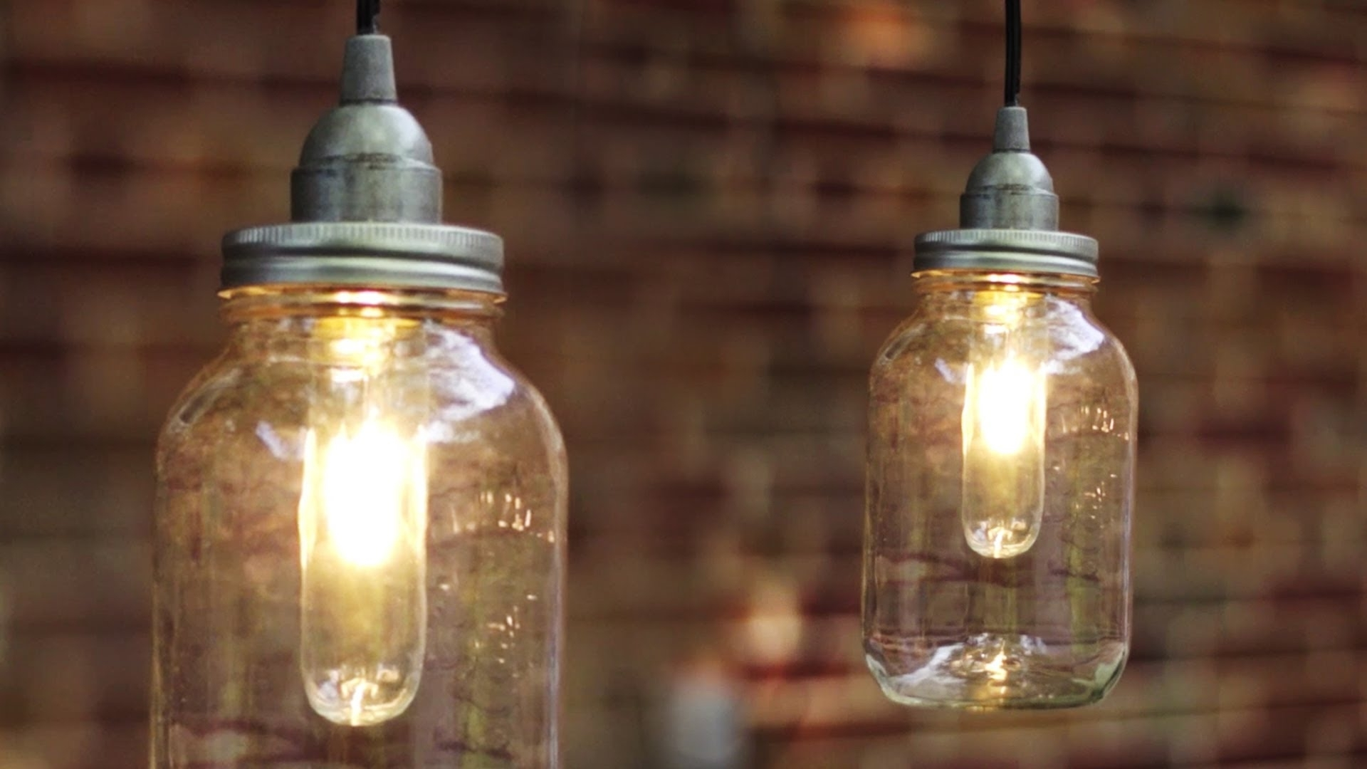Diy Mason Jar Light / Lantern – Youtube Pertaining To Recent Outdoor Jar Lanterns (Gallery 4 of 20)