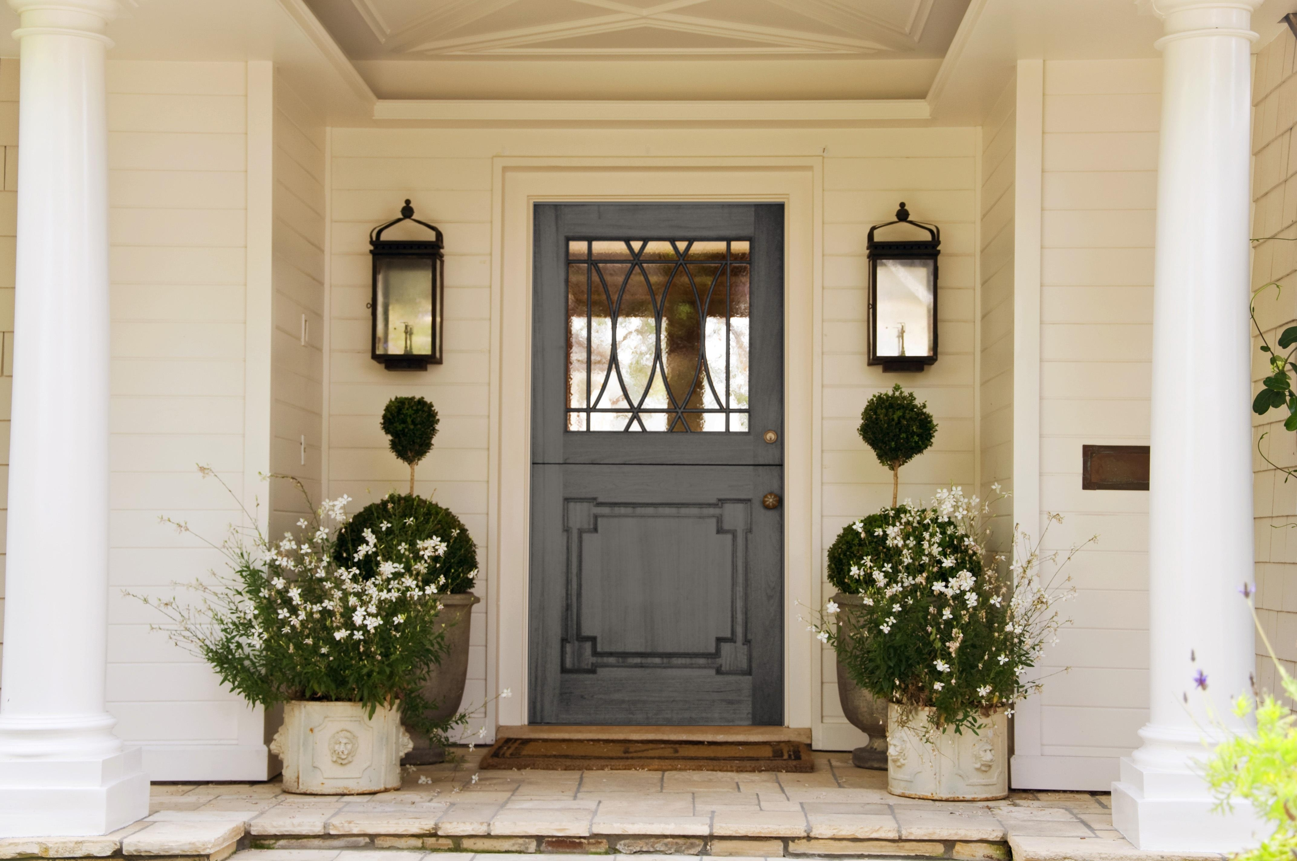 Door: Artistic Lowes Front Doors Decorated With Elegant Door Handles With Recent Outdoor Door Lanterns (View 12 of 20)