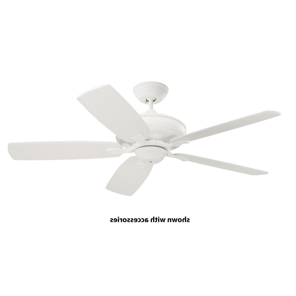 Efficient Outdoor Ceiling Fans Inside Latest Energy Efficient White Indoor/outdoor Ceiling Fan (View 5 of 20)