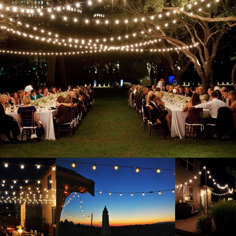 Elegant Outdoor Lights For Patio Exterior Decor Suggestion 100 Foot Throughout Most Recent Outdoor Lanterns For Parties (Gallery 17 of 20)