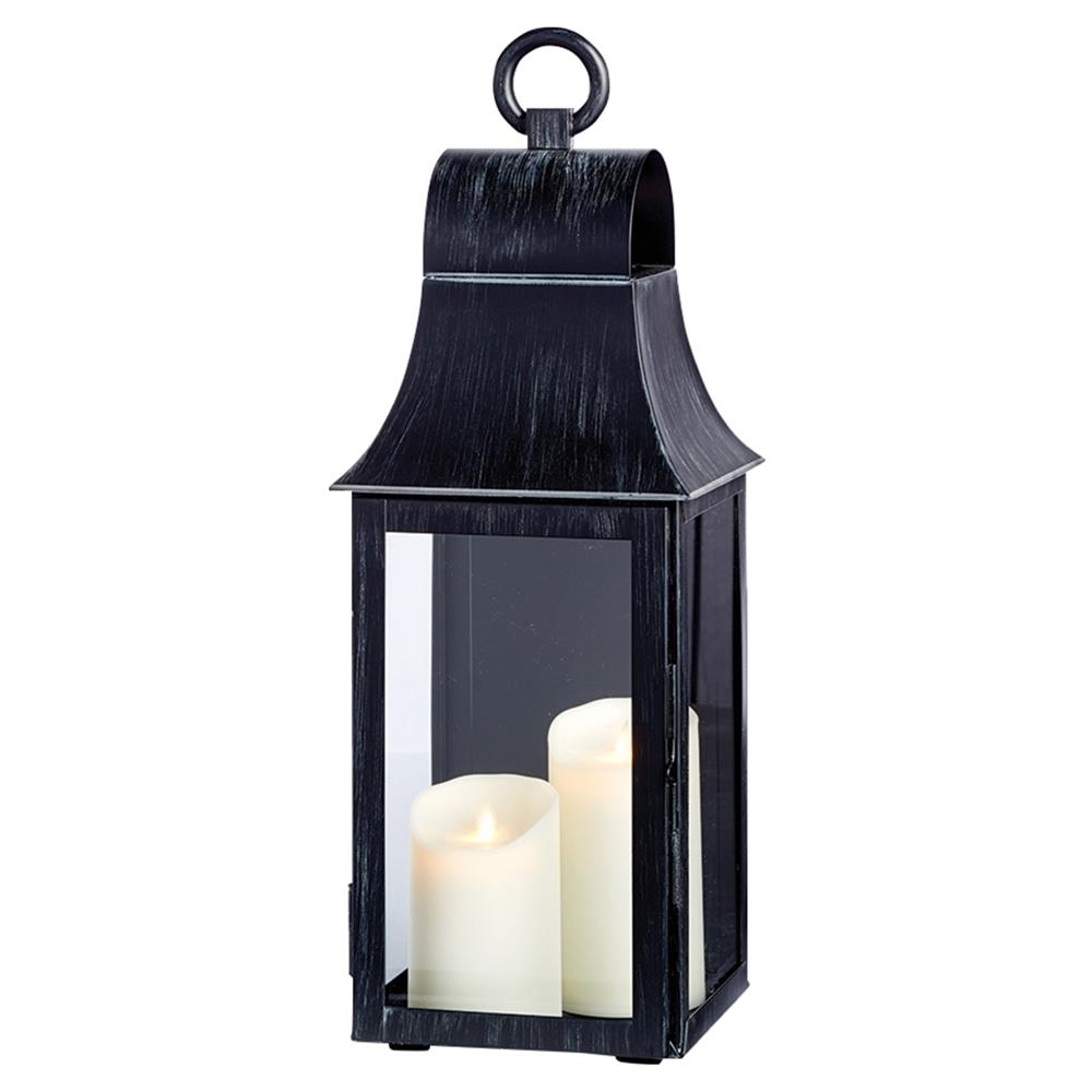 Elise French Country Washed Black Wall Mounted Outdoor Lantern With Popular Wall Mounted Outdoor Lanterns (View 11 of 20)