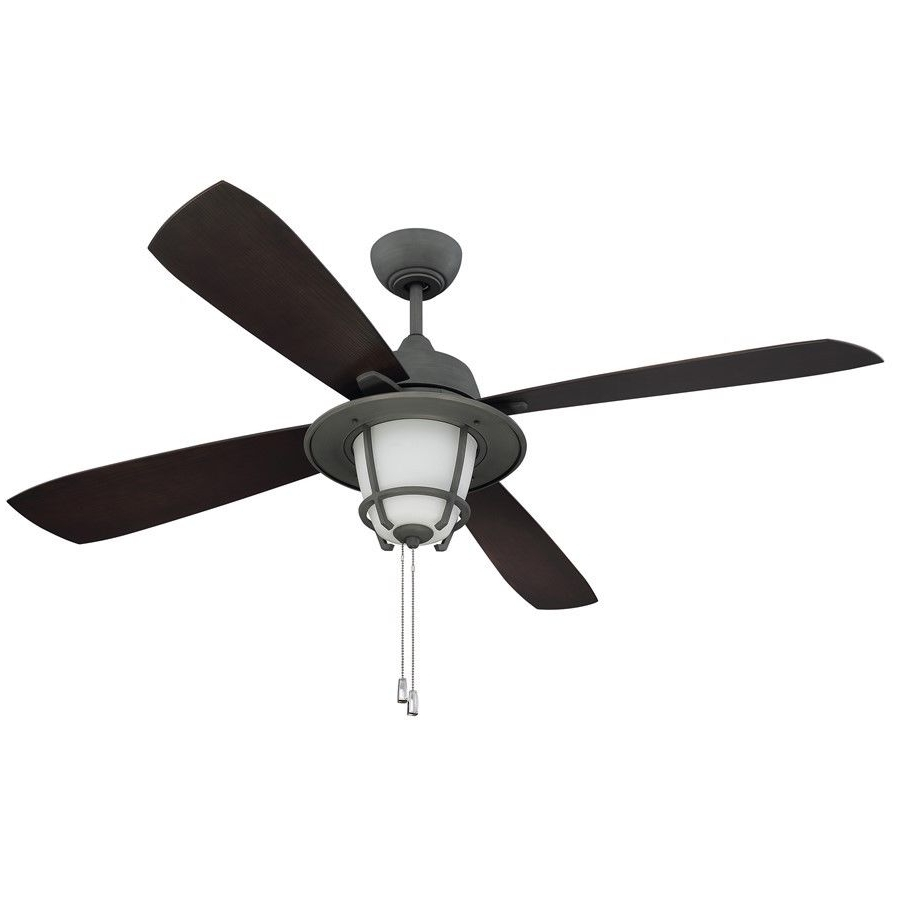 "Ellington Mr56Agv4C1 Morrow Bay 56"" Outdoor Ceiling Fan In Aged Inside 2018 Galvanized Outdoor Ceiling Fans (Gallery 13 of 20)"