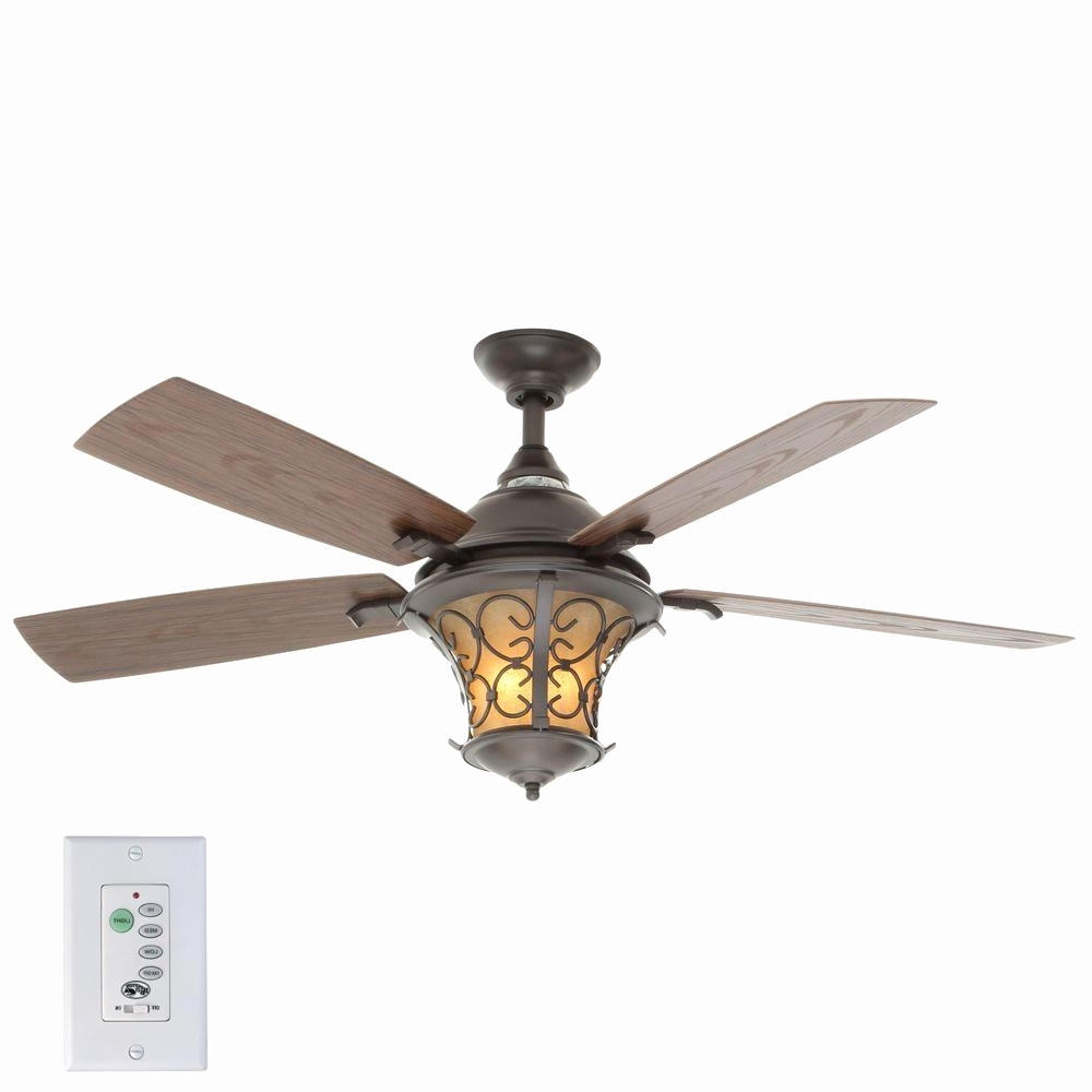 Emerson Outdoor Ceiling Fans With Lights Intended For Preferred Emerson Fan Light Kit Hampton Bay Veranda Ii 52 In Indoor Outdoor (View 15 of 20)