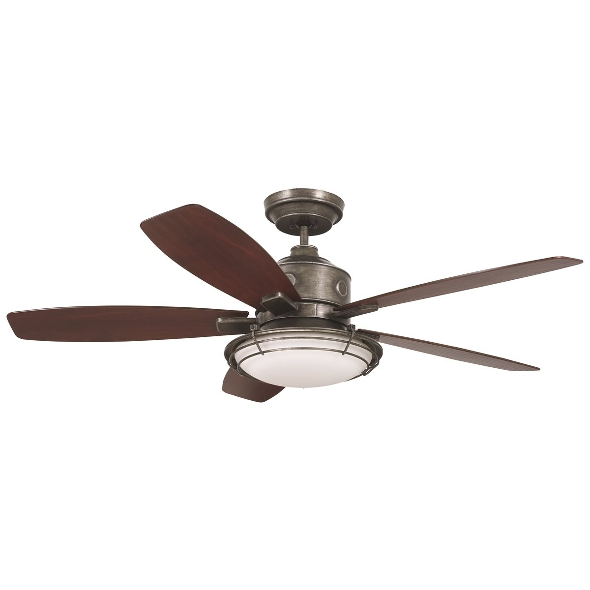 Emerson Rockpointe Outdoor Ceiling Fan – Vintage Steel One Each With Regard To Famous Wet Rated Emerson Outdoor Ceiling Fans (View 12 of 20)