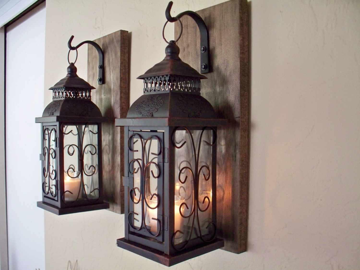 Etsy Outdoor Lanterns Regarding Latest 17 Rustic Lantern Wall Sconce, Lantern Sconces Outdoor Wall Sconce (View 16 of 20)