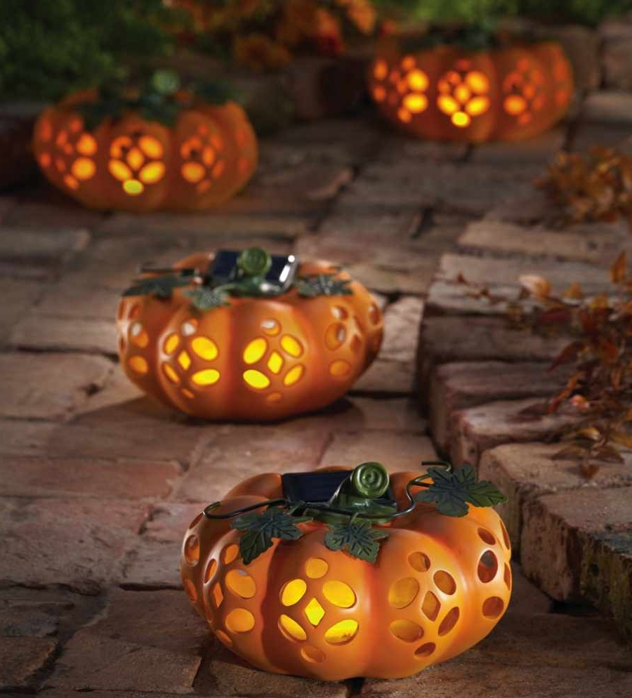 Exciting Outdoor Halloween Decoration Ideas Presenting Artificial Throughout Popular Outdoor Pumpkin Lanterns (View 2 of 20)