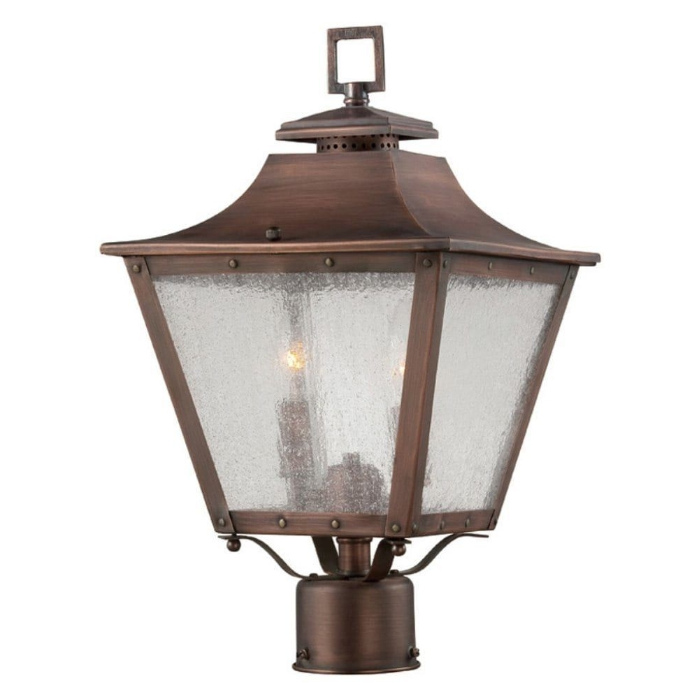 Famous Acclaim Lighting Lafayette Collection Post Mount 2 Light 17.5 Inch Pertaining To Copper Outdoor Lanterns (Gallery 20 of 20)