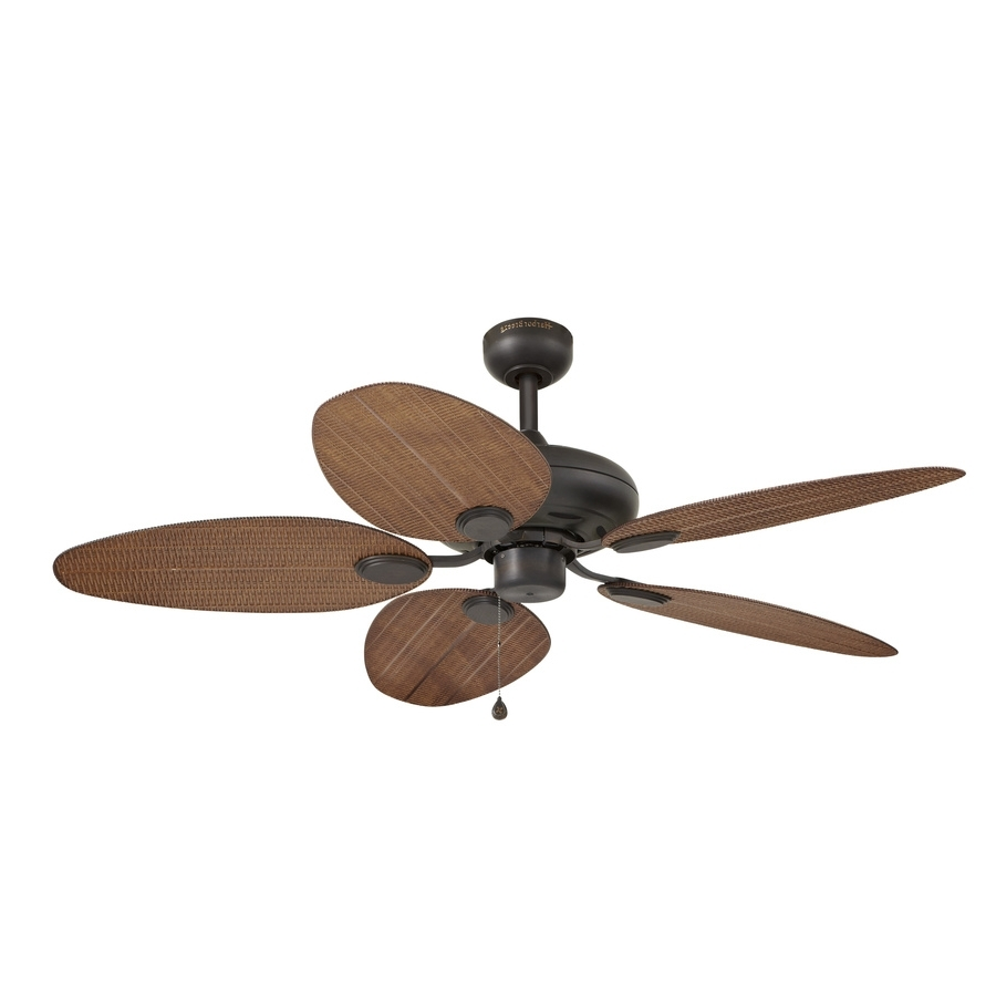 Famous Bamboo Outdoor Ceiling Fans Within Direct Wicker Ceiling Fan Blades Shop Harbor Breeze Tilghman 52 In (View 11 of 20)