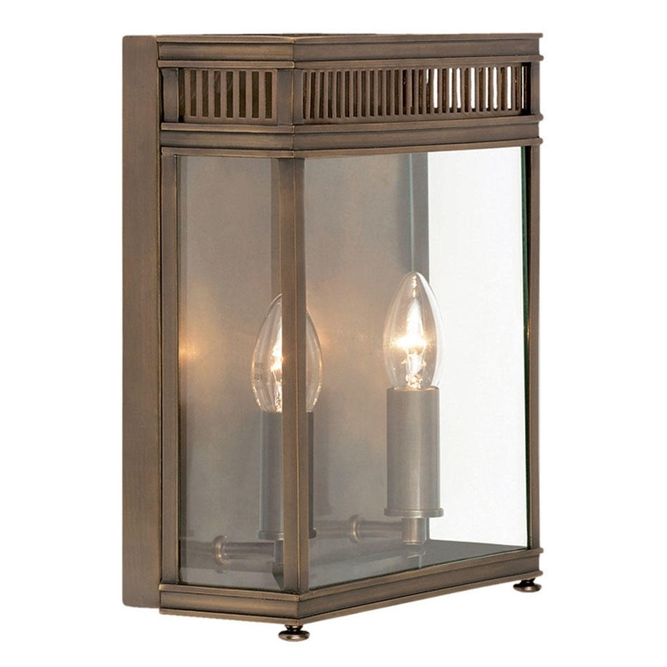 Famous Brass Outdoor Lanterns With Regard To Buy Holborn Brass Outdoor Wall Lanternselstead Lighting — The (View 9 of 20)