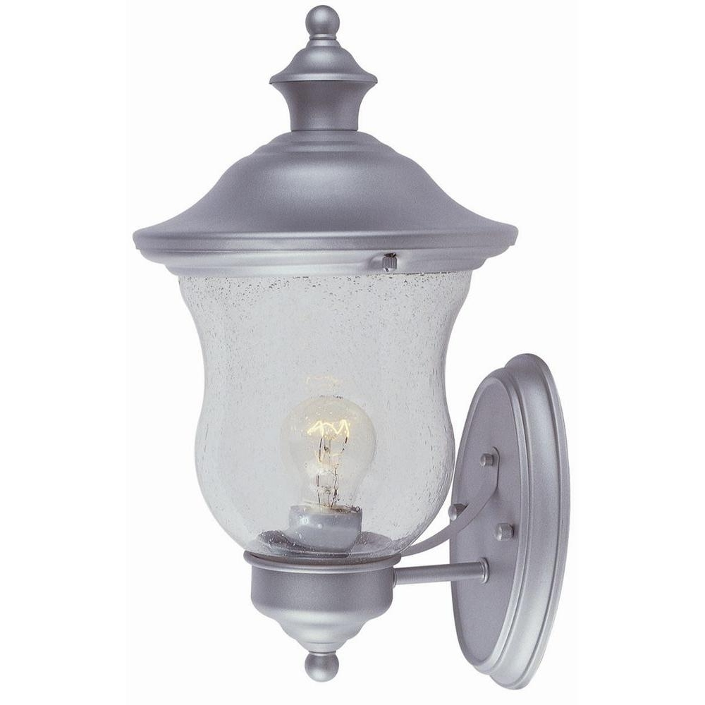 Famous Design House Highland Heritage Silver Outdoor Wall Mount Uplight Regarding Silver Outdoor Lanterns (View 6 of 20)
