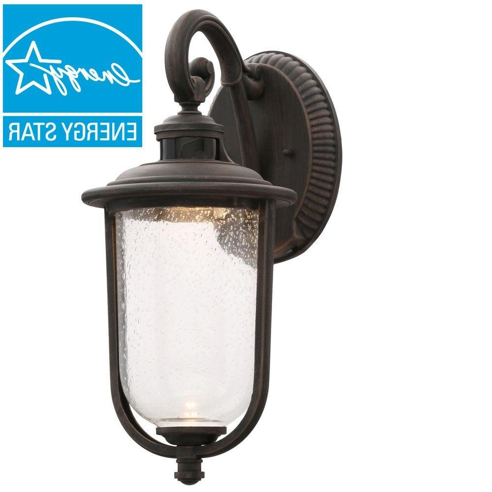 Famous Hampton Bay Outdoor Wall Mounted Lighting The Rust Lanterns Sconces Intended For Outdoor Lanterns And Sconces (View 7 of 20)