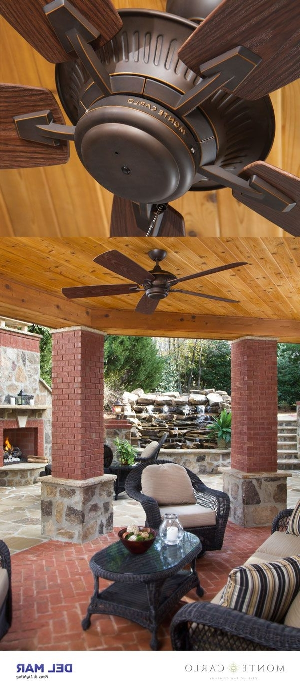 """Famous Monte Carlo 5Cy60Rb, Cyclone Roman Bronze Energy Star 60"""" Outdoor Within Efficient Outdoor Ceiling Fans (View 9 of 20)"""