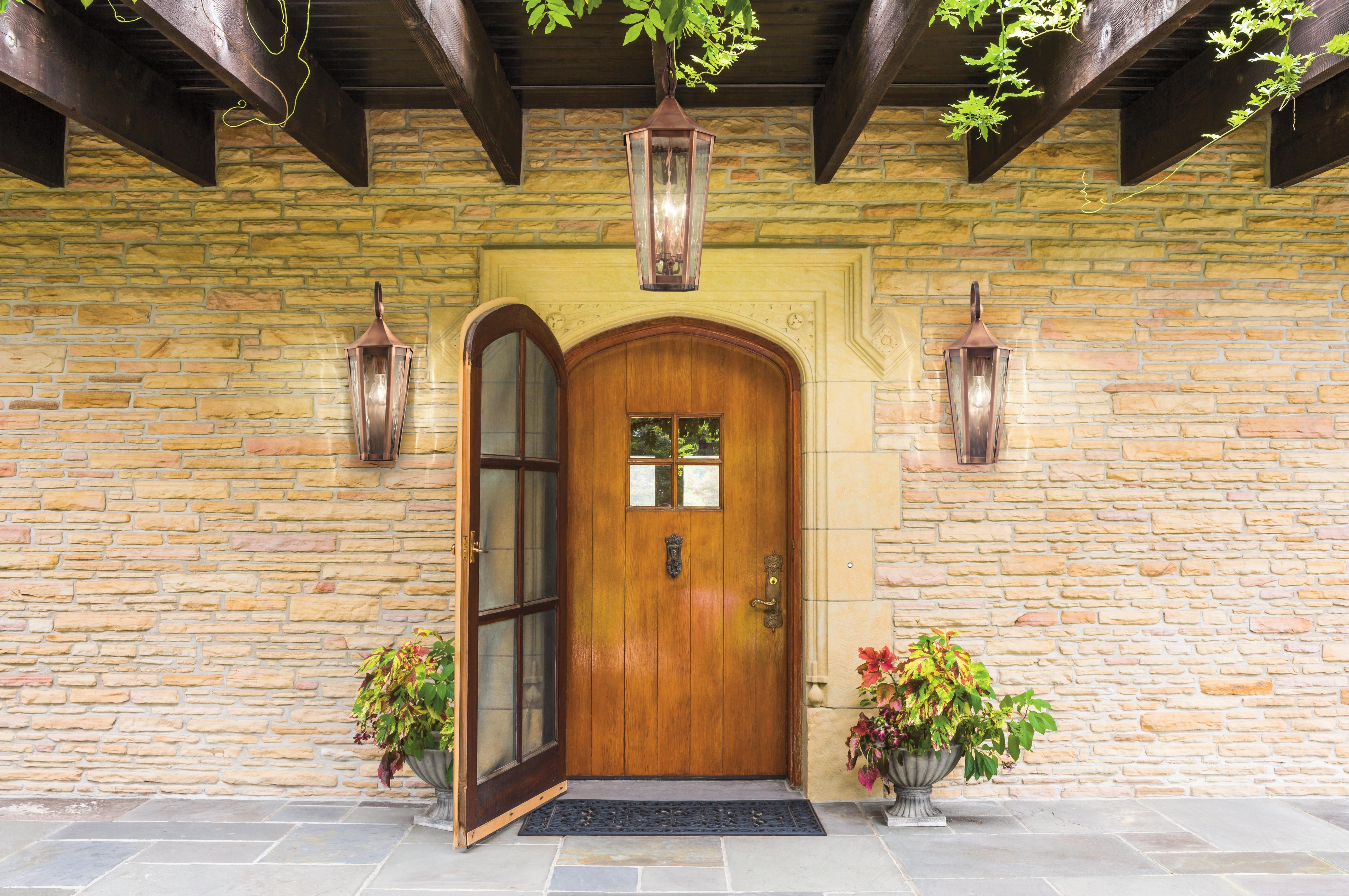 Famous Outdoor Lanterns For Front Door Inside Craftsman Style Exterior Lighting Helpful Outdoor Front Porch Doors (View 6 of 20)