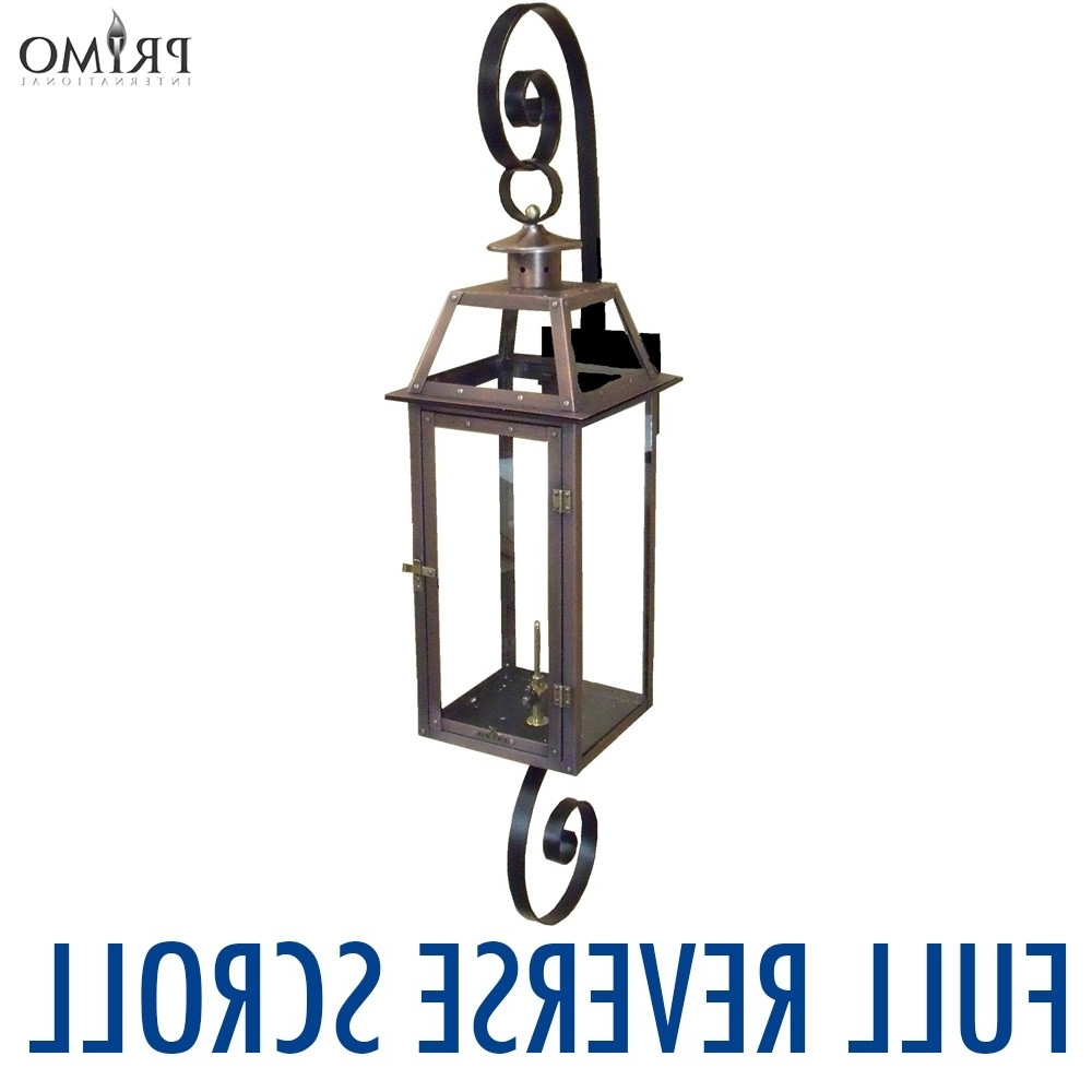 Famous Outdoor Propane Lanterns Inside Royal Gas Or Electric Copper Lanternprimo – French Market Gas (View 18 of 20)
