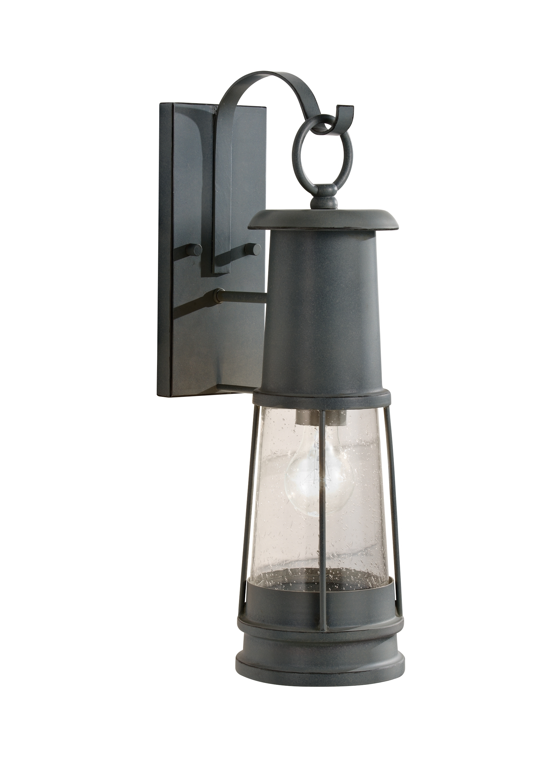 Famous Outdoor Storm Lanterns Throughout Ol8101stc,1 Light Outdoor Lantern,storm Cloud (View 8 of 20)