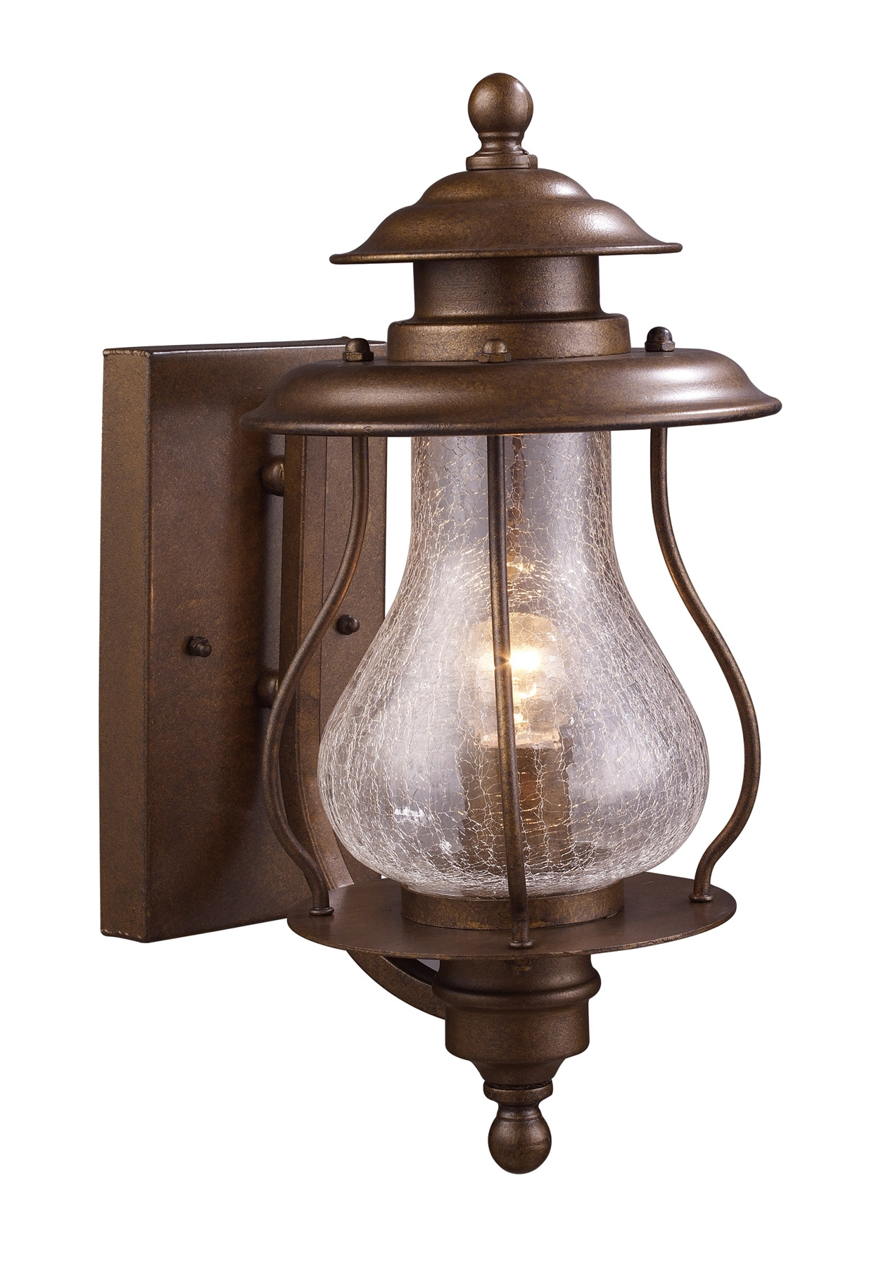 Famous Outdoor Tropical Lanterns With Elk Lighting 62005 1 Wikshire Outdoor Wall Mount Lantern (View 5 of 20)
