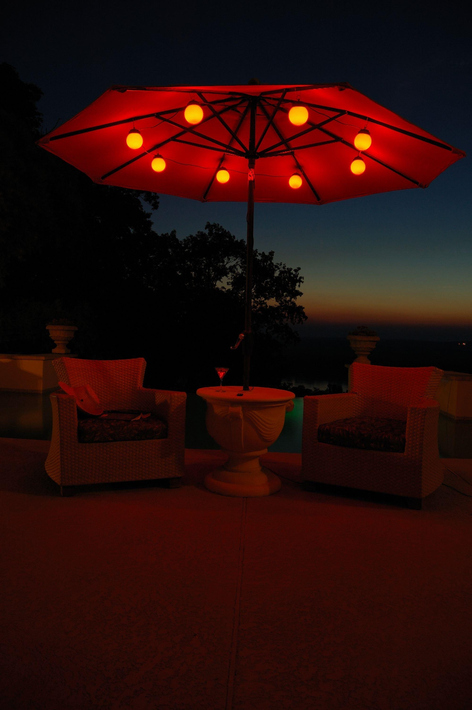 Famous Outdoor Umbrella Lanterns For Patio Umbrella Lighting — Npnurseries Home Design : Different Patio (Gallery 10 of 20)