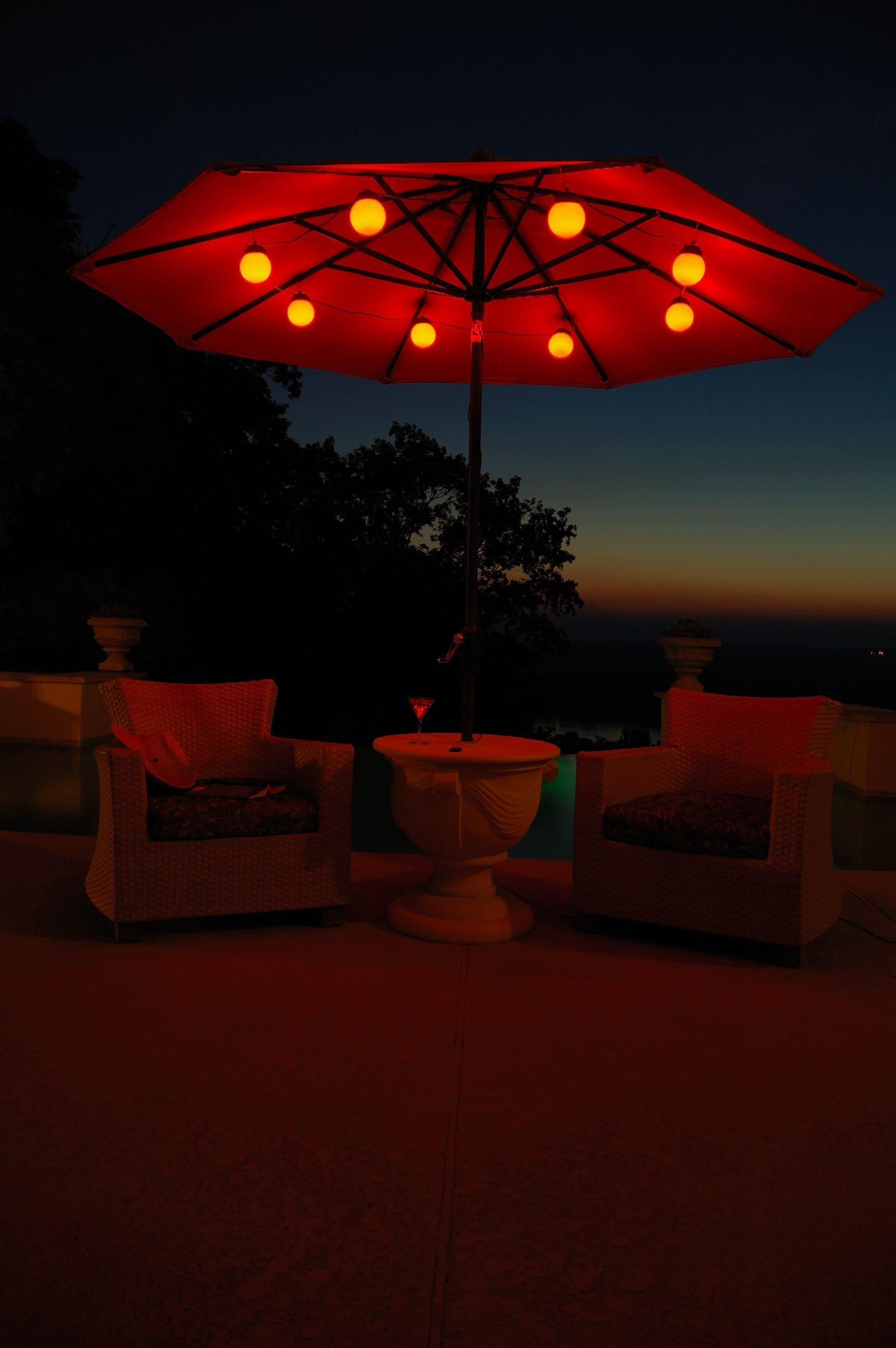Famous Outdoor Umbrella Lanterns For Patio Umbrella Lighting — Npnurseries Home Design : Different Patio (View 10 of 20)