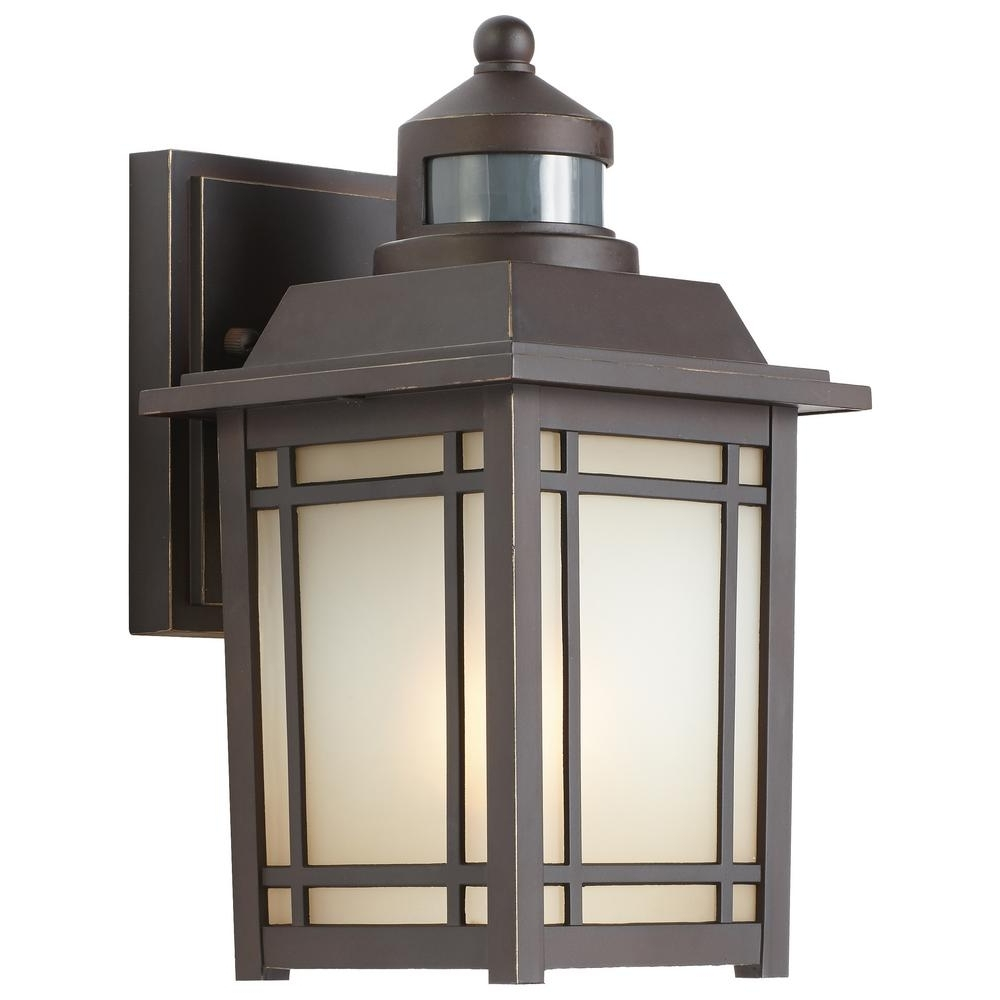 Famous Outdoor Wall Lanterns Pertaining To Home Decorators Collection Port Oxford 1 Light Oil Rubbed Chestnut (Gallery 11 of 20)