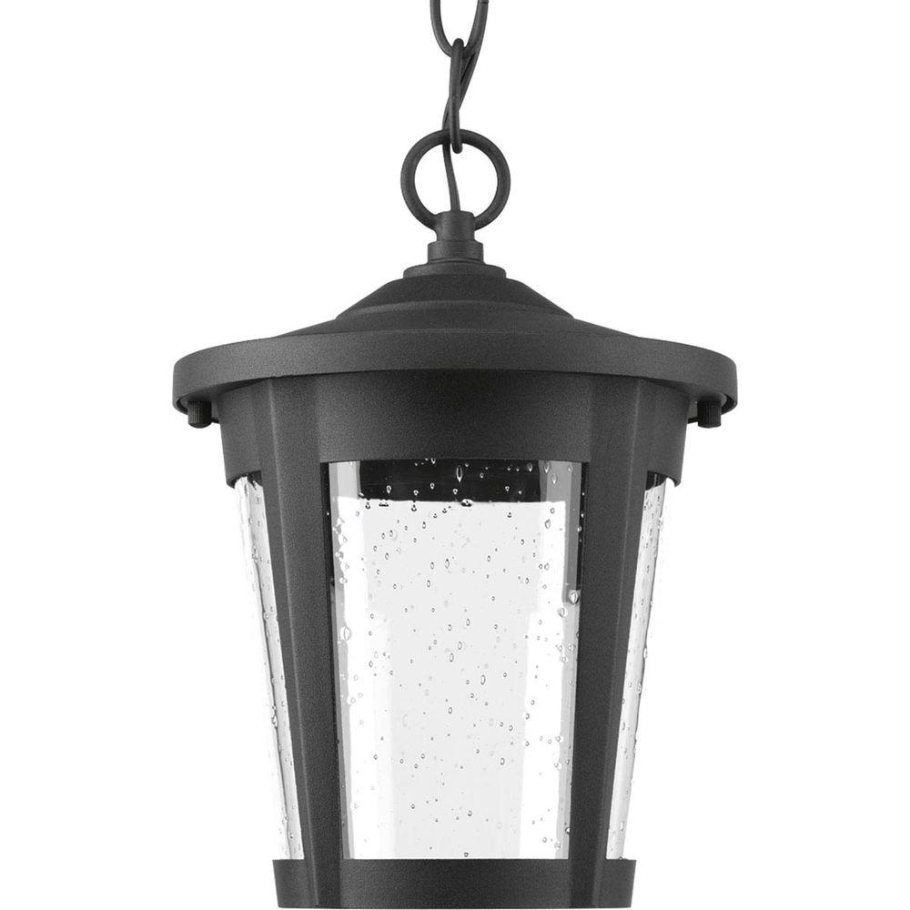 Famous Progress Lighting East Haven Collection 1 Light Outdoor Black Led For Led Outdoor Hanging Lanterns (View 3 of 20)