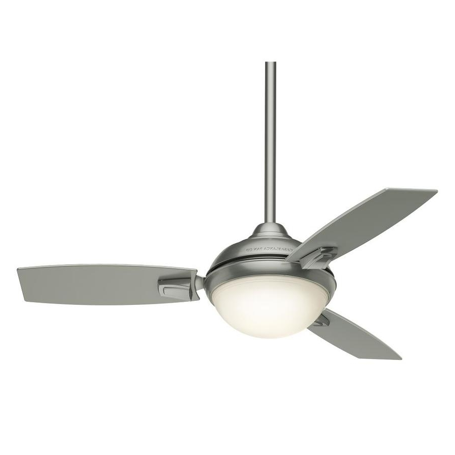 Famous Shop Casablanca Verse Led 44 In Satin Nickel Led Indoor/outdoor Pertaining To Casablanca Outdoor Ceiling Fans With Lights (View 12 of 20)
