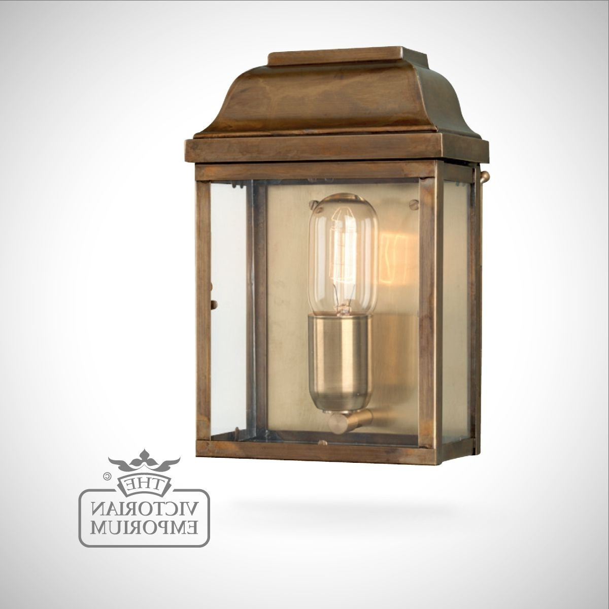 Famous Victorian Outdoor Lanterns For Victoria Wall Lantern – Antique Brass (View 8 of 20)
