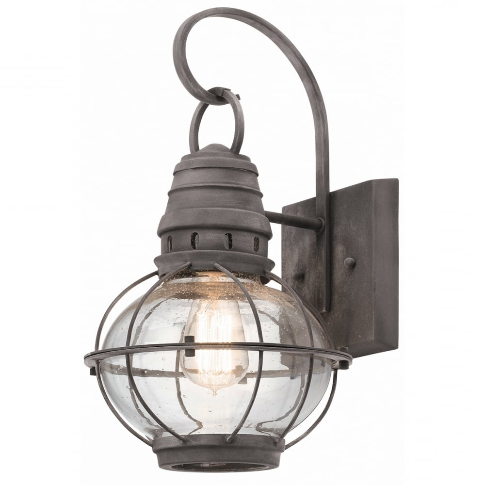 Famous Zinc Outdoor Lanterns Inside Classic Style Exterior Wall Lantern In Weathered Zinc (View 11 of 20)