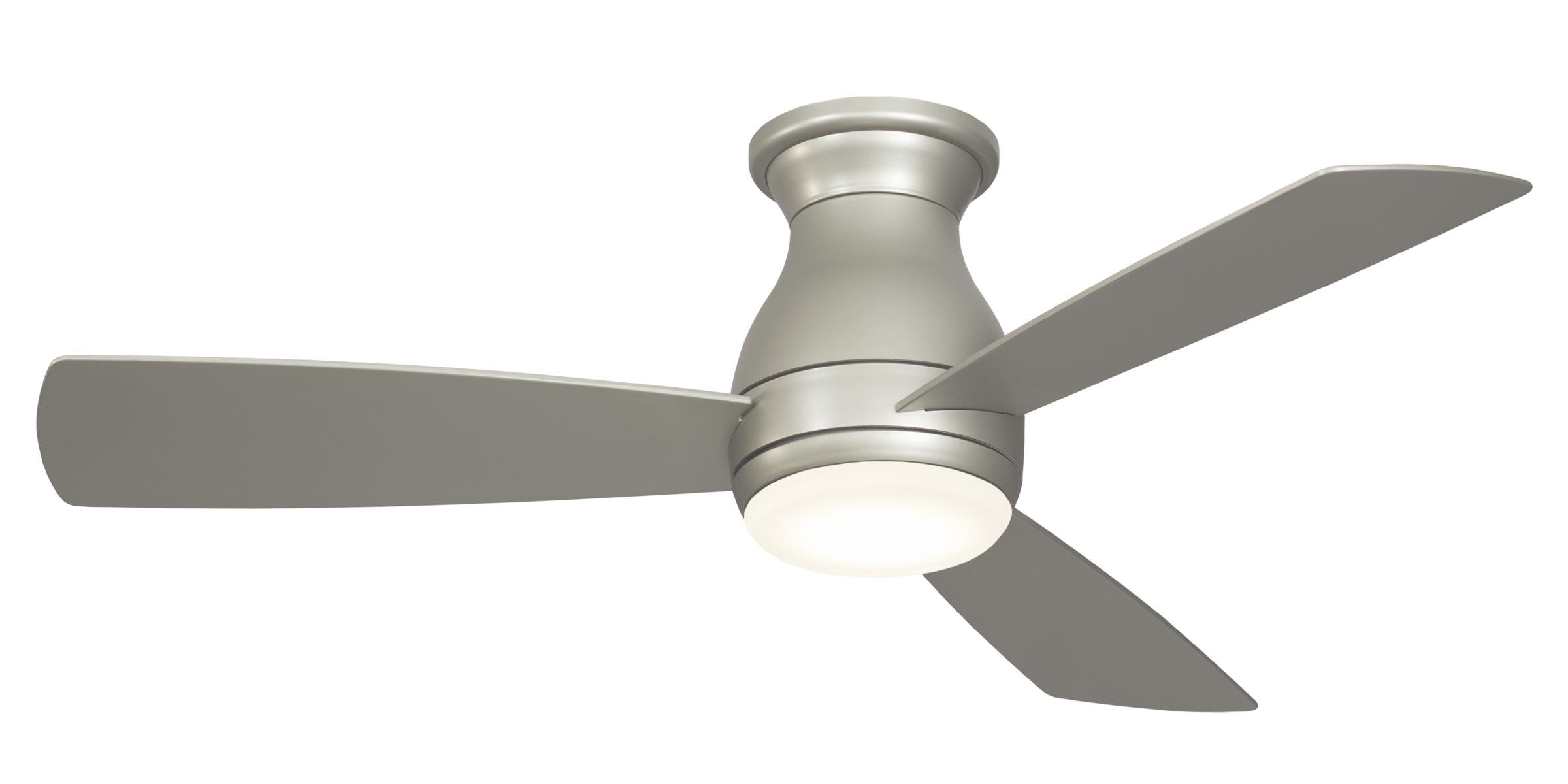 Fanimation Hugh 44 Ceiling Fan Model Fps8332Bnw In Brushed Nickel Within Widely Used Outdoor Ceiling Fans For Windy Areas (View 4 of 20)