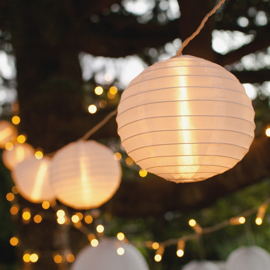 Fashionable 40 White Chinese Lantern Connectable Indoor Outdoor Led Fairy String With Regard To Outdoor Chinese Lanterns For Patio (View 5 of 20)