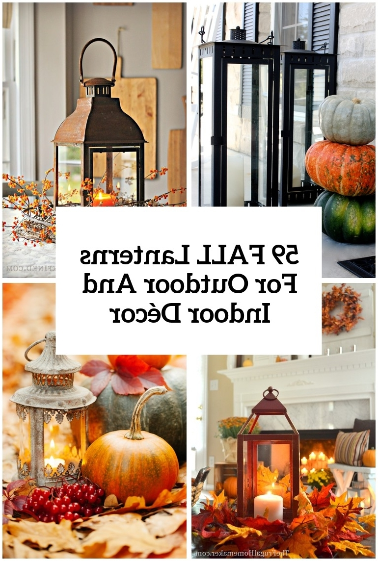 Fashionable 59 Fall Lanterns For Outdoor And Indoor Décor – Digsdigs Regarding Outdoor Pumpkin Lanterns (View 9 of 20)