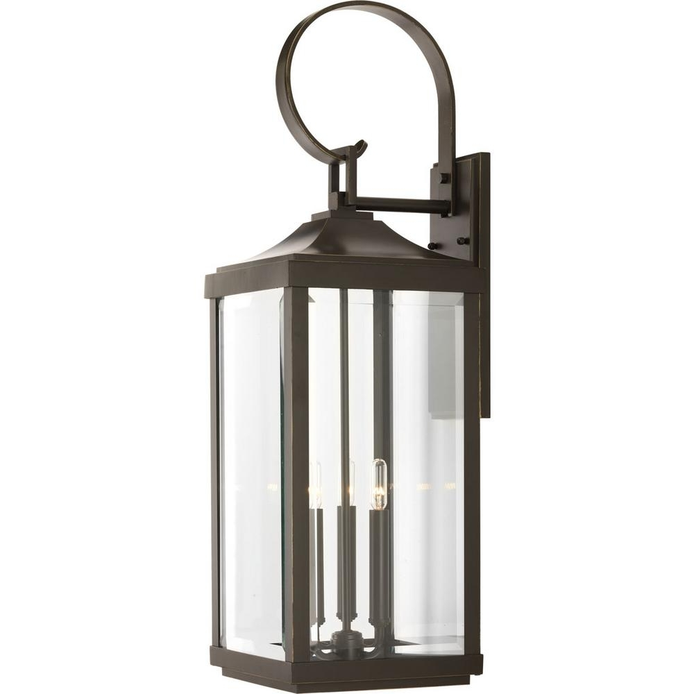 Fashionable Antique Outdoor Lanterns Pertaining To Progress Lighting Gibbes Street Collection 3 Light Antique Bronze (View 12 of 20)