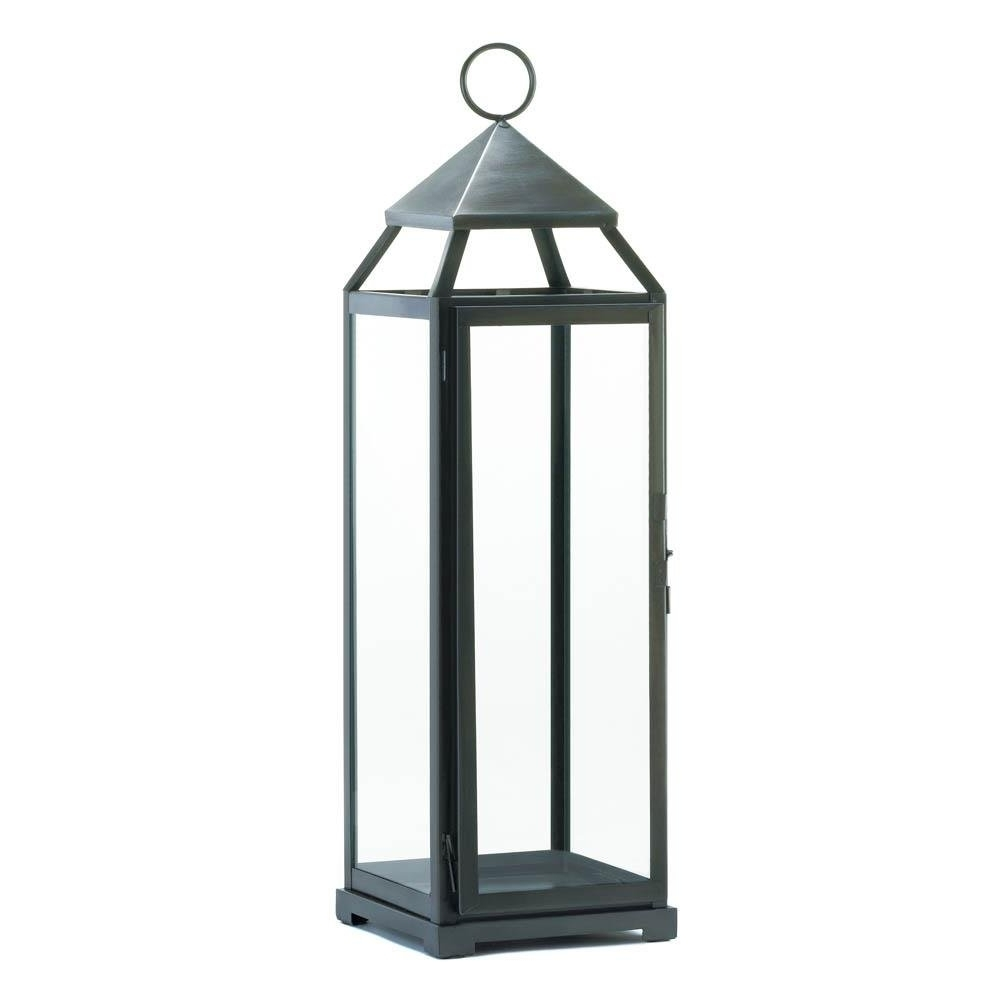 Fashionable Backyard Lanterns, Silver Extra Tall Metal Decorative Floor Patio In Tall Outdoor Lanterns (View 2 of 20)