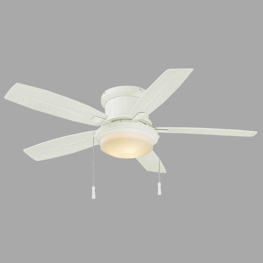 Fashionable Best Choice Of Hampton Bay Roanoke 48 In Indoor Outdoor White Throughout 48 Inch Outdoor Ceiling Fans With Light (View 17 of 20)