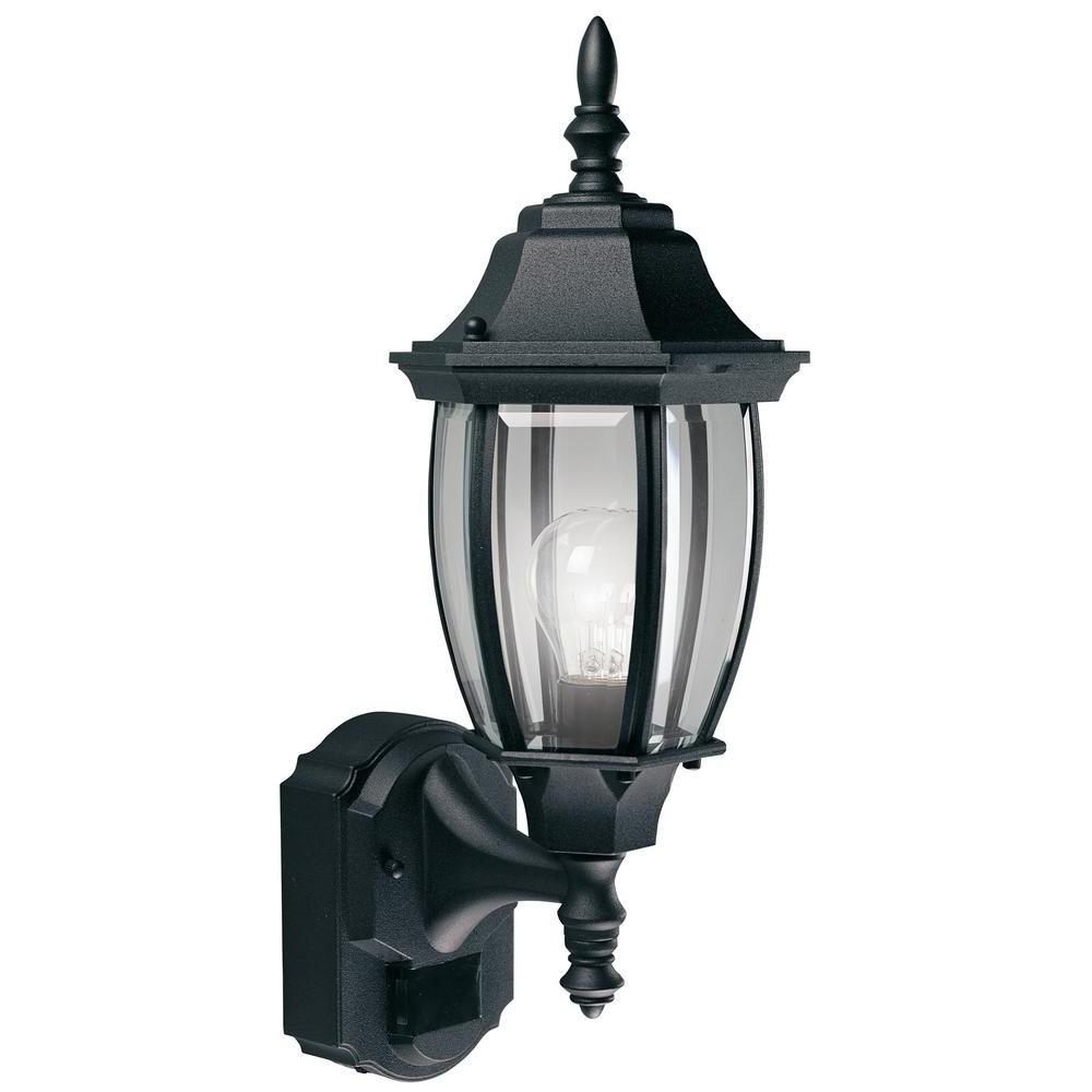 Fashionable Black Hampton Bay Outdoor Lanterns Sconces Hbi 4192 Bk 64 1000 Throughout Outdoor Lanterns And Sconces (View 5 of 20)