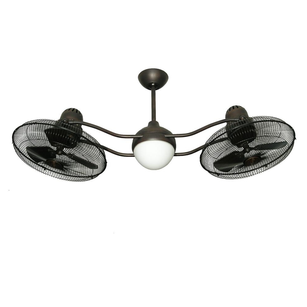 Fashionable Dual Outdoor Ceiling Fans With Lights For Troposair Duet 15 In (View 13 of 20)