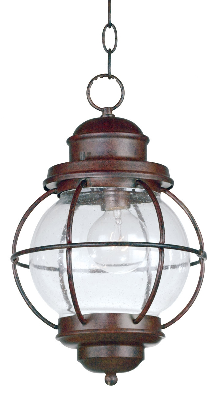 Fashionable Kenroy Home 90965Gc Hatteras Indoor / Outdoor Hanging Lantern With Regard To Outdoor Nautical Lanterns (View 6 of 20)