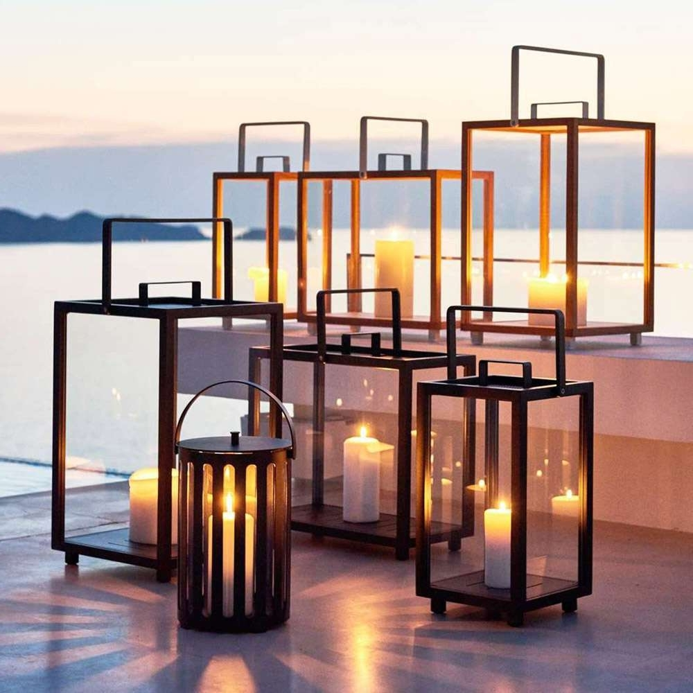Fashionable Modern Outdoor Lanterns Pertaining To Modern Outdoor Table Lanterns – Outdoor Ideas (Gallery 1 of 20)
