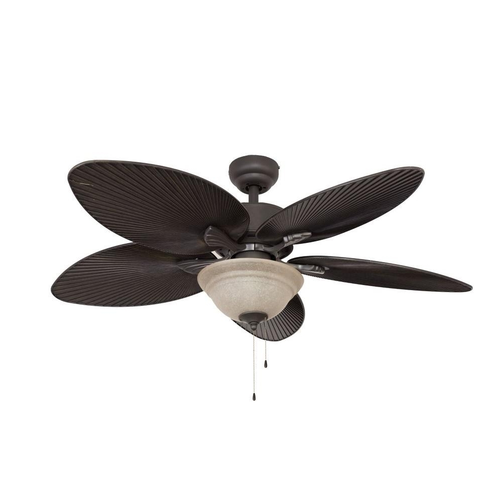Fashionable Outdoor Ceiling Fans With Bamboo Blades Regarding Sahara Fans St. Croix 52 In (View 5 of 20)