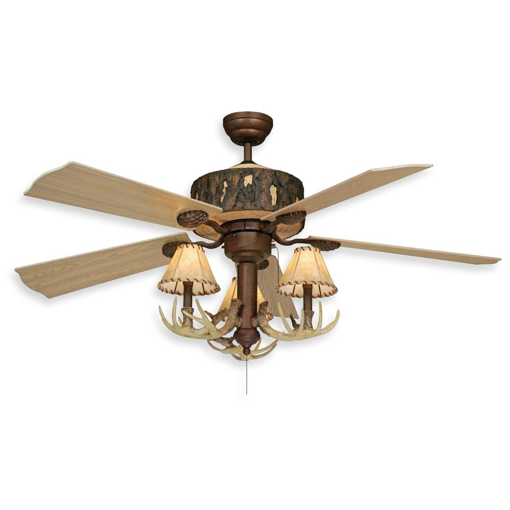 Fashionable Outdoor Ceiling Fans With Lantern Inside Ceiling: Awesome Rustic Outdoor Ceiling Fans Rustic Ceiling Fans (View 7 of 20)
