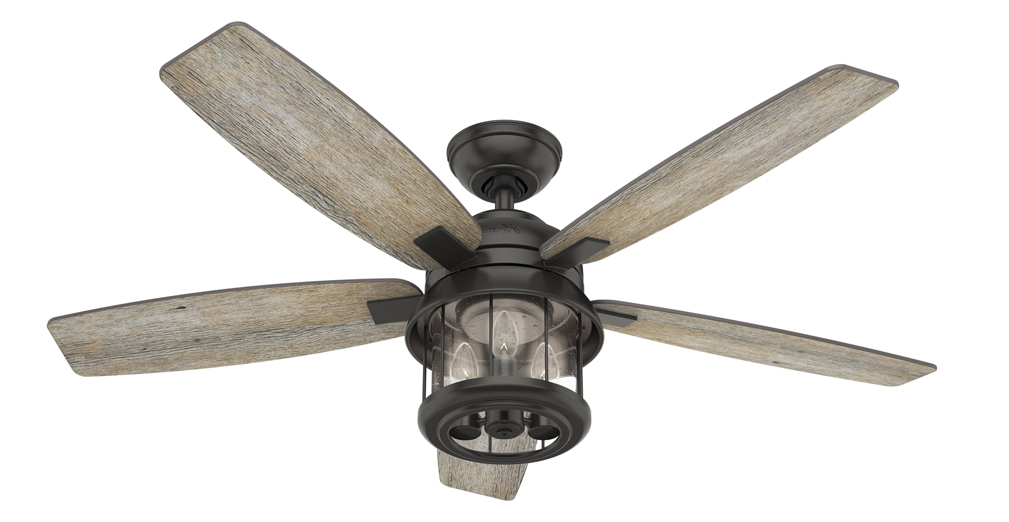 Fashionable Outdoor Ceiling Fans With Lantern Light Throughout Coral Bay Lantern Outdoor Ceiling Fan With Led Edison Light – Hunter (View 6 of 20)