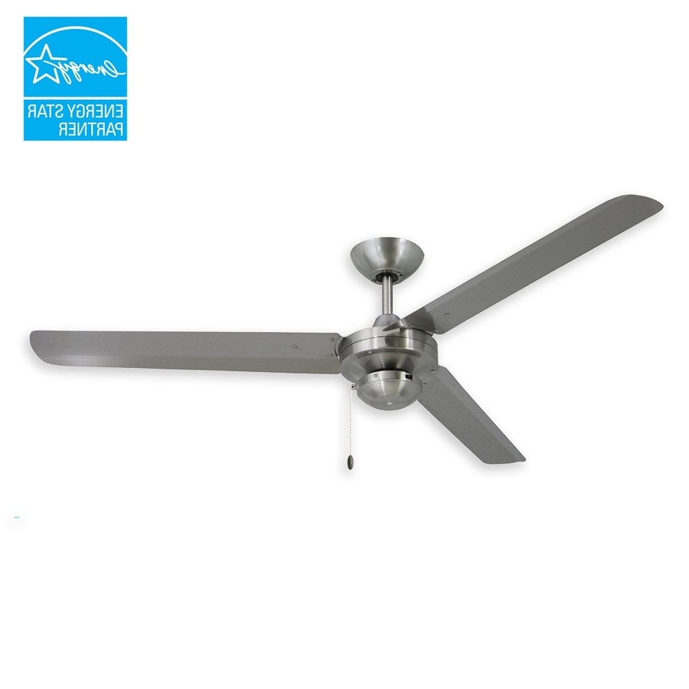 "Fashionable Outdoor Ceiling Fans With Metal Blades Pertaining To Troposair Tornado Ceiling Fan – 56"" Stainless Steel Outdoor Fan (View 2 of 20)"