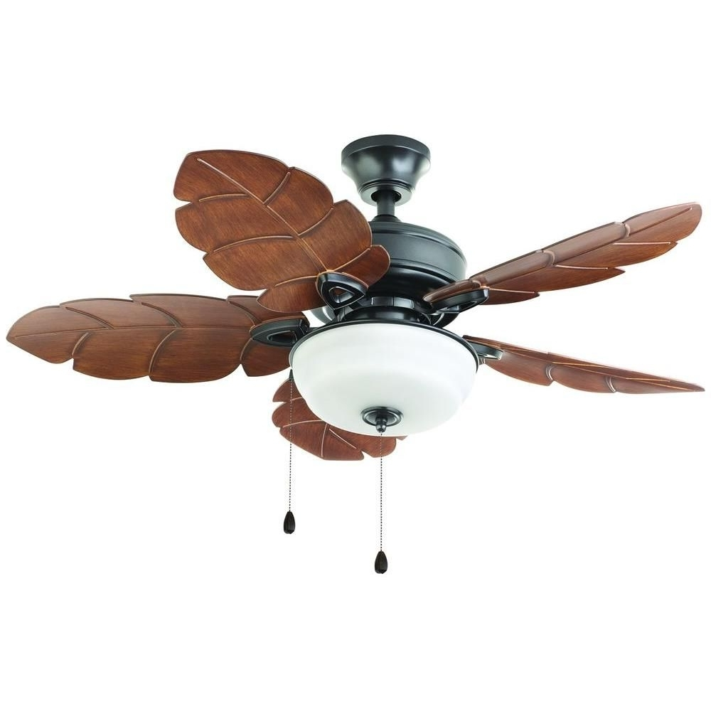 Fashionable Outdoor Ceiling Fans With Palm Blades Regarding Home Decorators Collection Palm Cove 44 In (View 8 of 20)