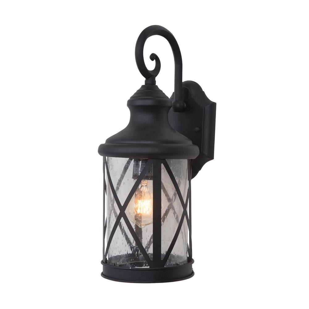 Fashionable Outdoor Lanterns Decors Throughout Yosemite Home Decor 1 Light Exterior Lantern In Black Finish Medium (View 11 of 20)
