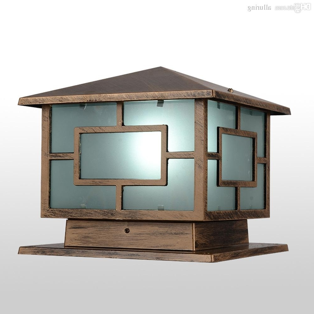Fashionable Outdoor Lanterns For Pillars Intended For Online Cheap Wholesale Japanese Style Royal Wall Pillar Lamp Outdoor (View 14 of 20)