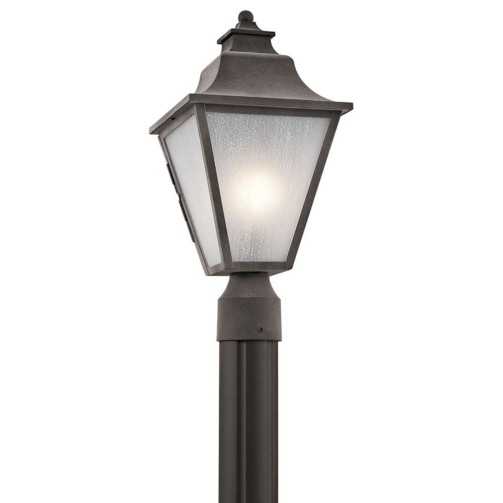 Fashionable Outdoor Lanterns For Posts Within Kichler 49705wzc Northview Weathered Zinc Outdoor Lamp Post Light (View 12 of 20)