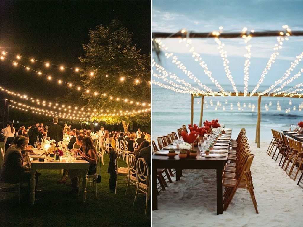 Fashionable Outdoor Lanterns For Wedding With Appealing Best Outdoor Lanterns Beach Wedding Reception Food Night (View 4 of 20)