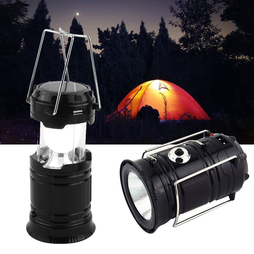Fashionable Outdoor Rechargeable Lanterns Inside Usb Solar 6 Led Portable Light Rechargeable Lantern Outdoor Camping (View 6 of 20)